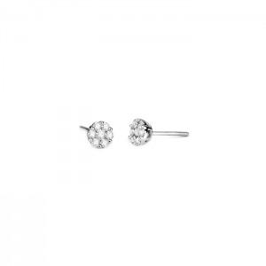 Дамски златни обеци с диаманти Facet E1150000
