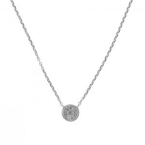 Дамско златно колие с диаманти Facet P0140B84