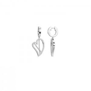 Дамски сребърни обеци Pierre Cardin PCCO90221A