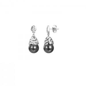 Дамски сребърни обеци Pierre Cardin PCER90261D