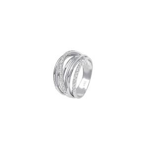 Дамски златен пръстен с диаманти Bliss 20067486