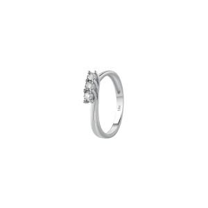 Дамски пръстен бяло злато с диаманти Bliss 20084200