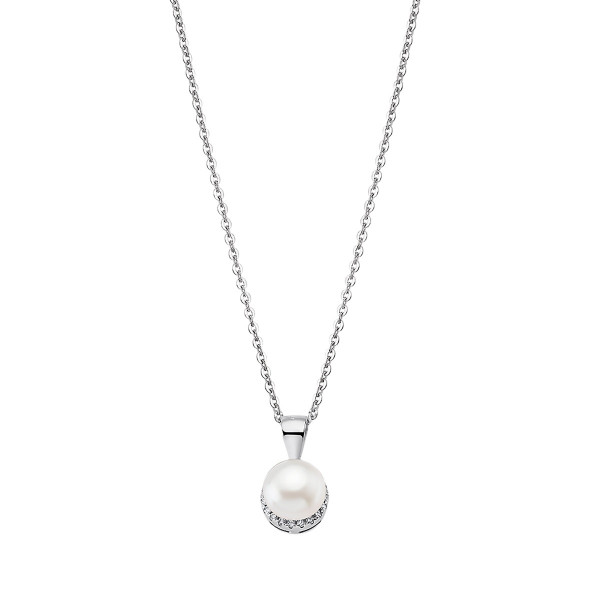 Дамско сребърно колие с перла Lotus Silver LP1929-1/1