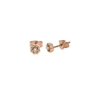 Дамски обеци розово злато с диаманти Bliss 20086004