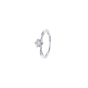 Дамски пръстен от бяло злато с диамант Bliss 20088281
