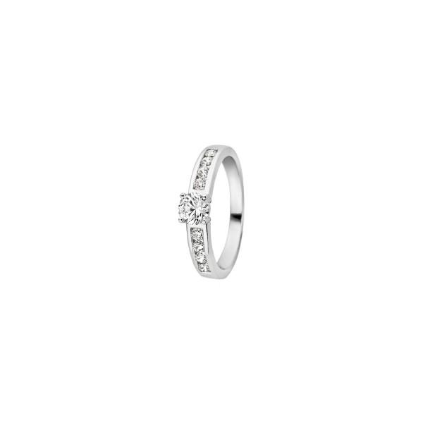 Дамски пръстен бяло злато Blush 1126WZI
