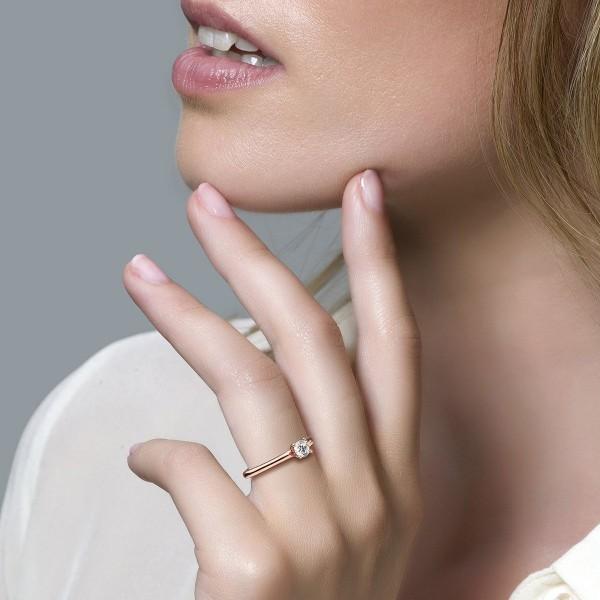 Дамски пръстен розово злато Blush 1133RZI