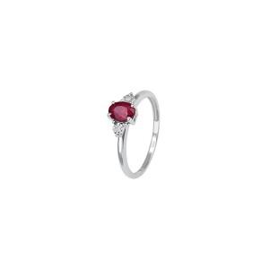 Златен дамски пръстен с диаманти и рубин Bliss 20069902