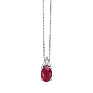 Златно дамско колие с рубин и диамант Bliss 20069993