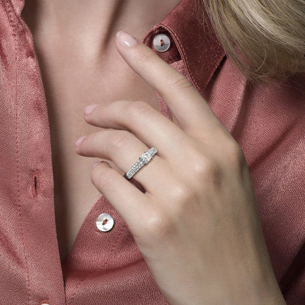 Дамски златен пръстен Blush 1135WZI
