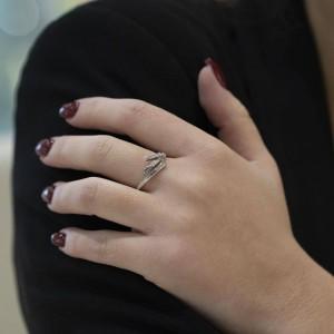 Златен дамски пръстен с диаманти Bliss 20043601