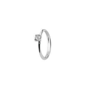 Дамски пръстен от бяло злато с диамант Bliss 20073740