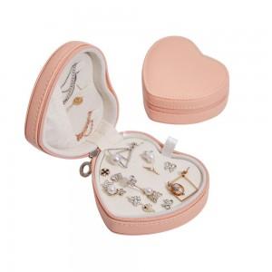 Кутия за бижута сърце в розово