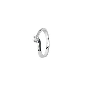 Дамски пръстен от бяло злато с диамант Bliss 20074080