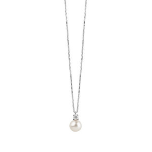 Дамско златно колие с перла и диамант Bliss 20070778
