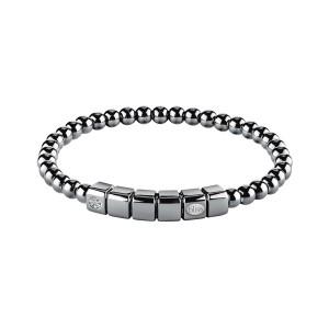 Мъжка сребърна гривна с диамант Bliss 20070859