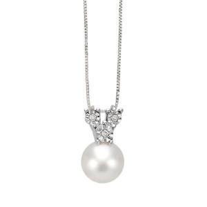 Дамско златно колие с диаманти и перла Bliss 20070969