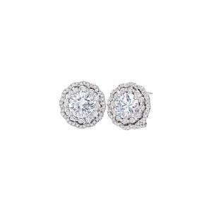 Дамски сребърни обеци Bliss 20073548