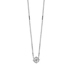 Дамско златно колие с диамант Bliss 20075342