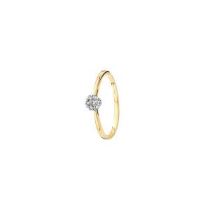 Дамски златен пръстен Blush с диаманти 1610BDI