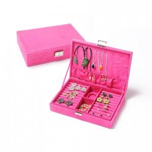 Розова кутия за бижута с отделения