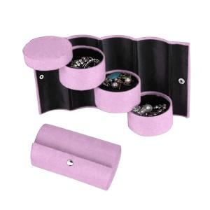 Цилиндрична кутия за бижута в розово