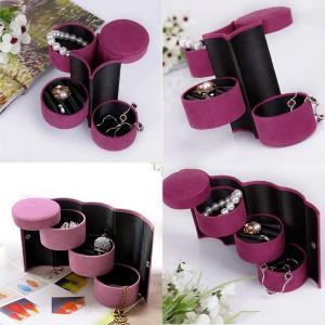 Цилиндрична кутия за бижута в лилаво