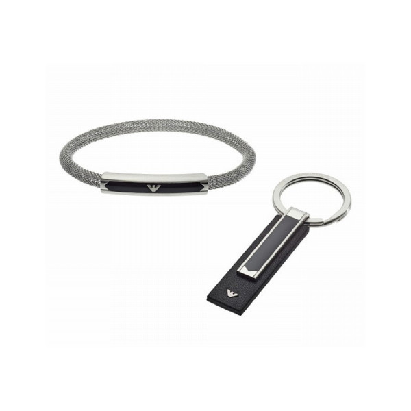 Мъжка гривна и ключодържател Emporio Armani EGS2613040