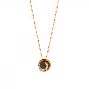 Дамско златно колие с диаманти Facet P0140C18