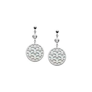 Дамски сребърни обеци Fossil JFS00461040