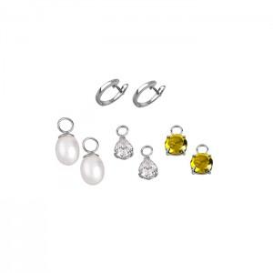 Сребърен комплект дамски обеци Lotus Silver LP1549-4/1