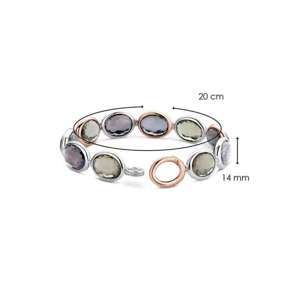Дамска сребърна гривна Ti Sento 2857GB