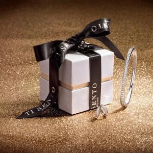 Сребърен комплект гривна и обеци Ti Sento 4156ZI